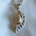 elk Ivory cast Leaf Pendant