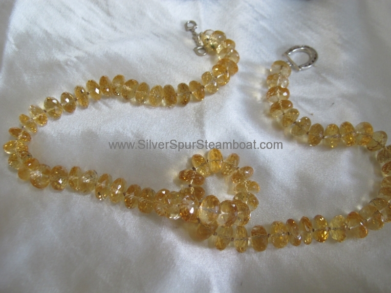 Citrine Crystal Necklace sold